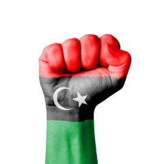 Fist of Libya flag painted