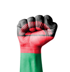 Fist of Malawi flag painted
