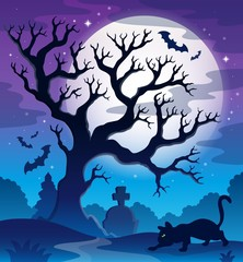 Spooky tree theme image 2