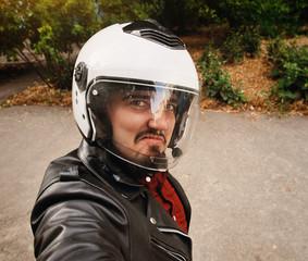 Motorcyclist Selfshot
