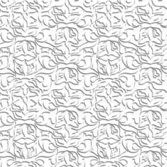 Damascus. White pattern.