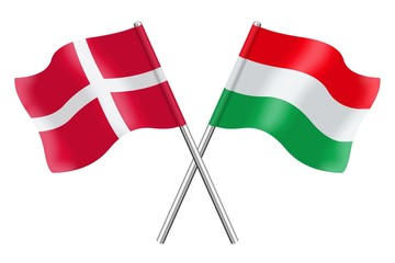 Flags: Hungary and Denmark