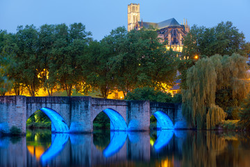 Limoges at a summer night