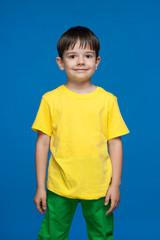 Little boy in the yellow shirt