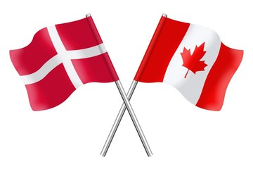 Flags: Denmark and Canada