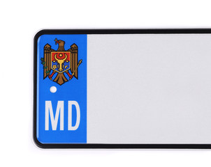 Number plate from Moldova.