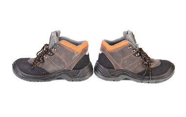 Pair of hiking shoes.