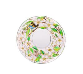 Varnished ceramic plate.
