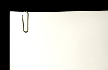 Black Paper Clip with Blank Paper