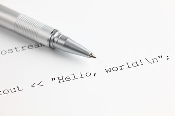 "Program code ""Hello, world!"""