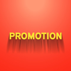 promotion sign with shadow