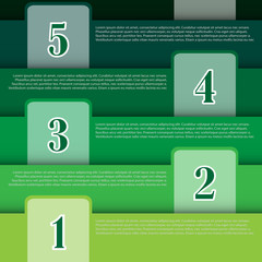 infographic vector banner for business concept