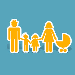 family design over background vector illustration flat