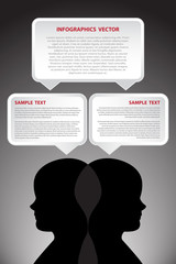 Vector infographic human thinking
