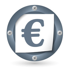 dark abstract icon with paper and euro symbol