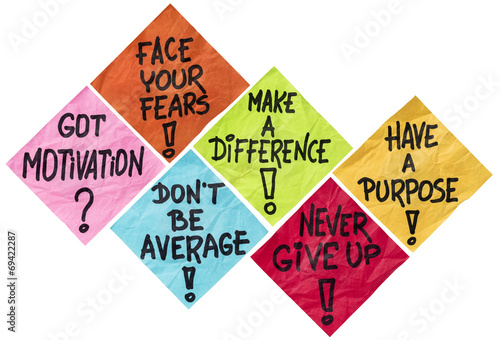 Fototapeta motivation reminder notes