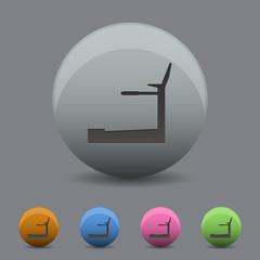 Icon trainer treadmill. Vector illustration.