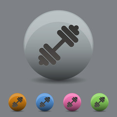barbell icon in design wihh  shadow