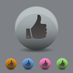 Vector illustration of thumb up icon