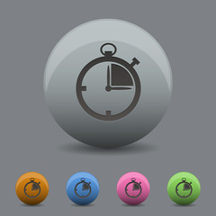 Stopwatch icon with different colour