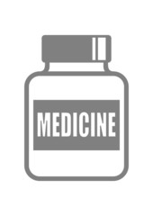 Vial of medicine on white background
