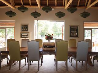 Modern design living room. Vergelegen wine estate.