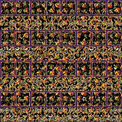 Seamless patterned frame  background;