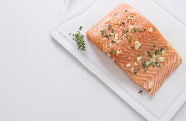 Fresh Salmon Fish, Cooking Seafood