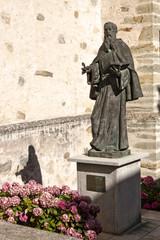 Saint Lawrence statue in Villafranca del Bierzo