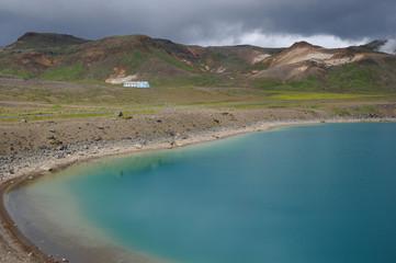 Lac bleu islandais