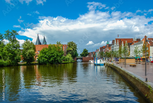 canvas print picture Lübeck - an der Trave