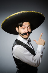 Mexican man in funny concept