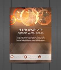 Flyer design, cover design, corporate banner