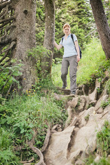 Outdoor Adventure on a Rocky Trail