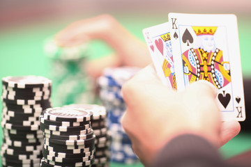 Pokerspielatmosphäre