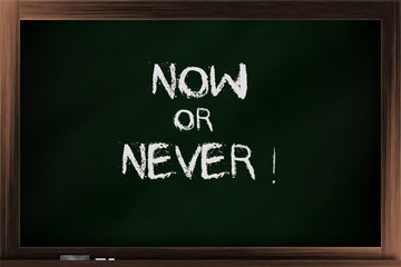 Choices of now or never