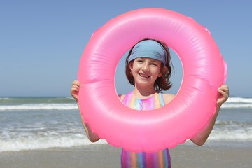 summer fun portrait: child at the beach