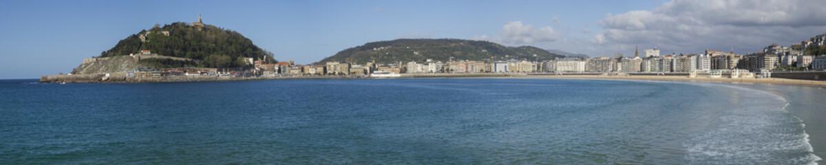 panoramic view of the city of Donostia - San Sebastian,