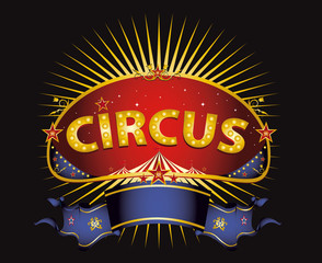 Fantastic red circus sign
