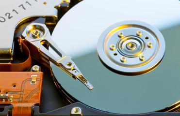 Open hard HDD drive
