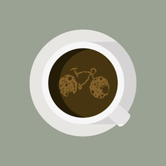 Vector illustration of Coffee Cycle in modern design