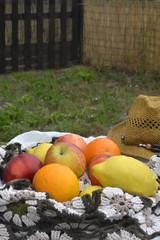 Summer fruits outdoors