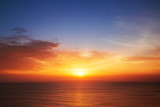 Fototapety Beautiful cloudscape over the sea, sunset shot