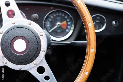 Wooden steering wheel - MGB roadster