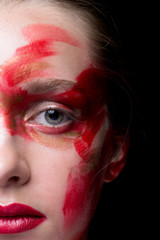 Girl with Splatter Makeup