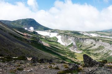 大雪山赤岳より白雲岳