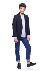 Full body of a fashion man