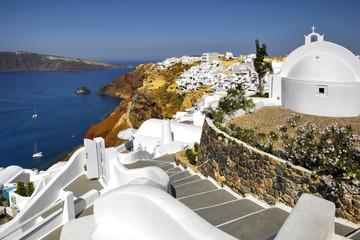 Santorini, Grecja, Oia, architektura