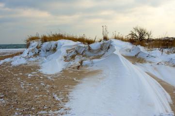 Krajobraz Morski, zimowa wydma