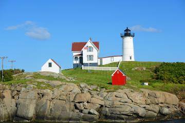 Cape Neddick Lighthouse, Old York Village, Maine, USA